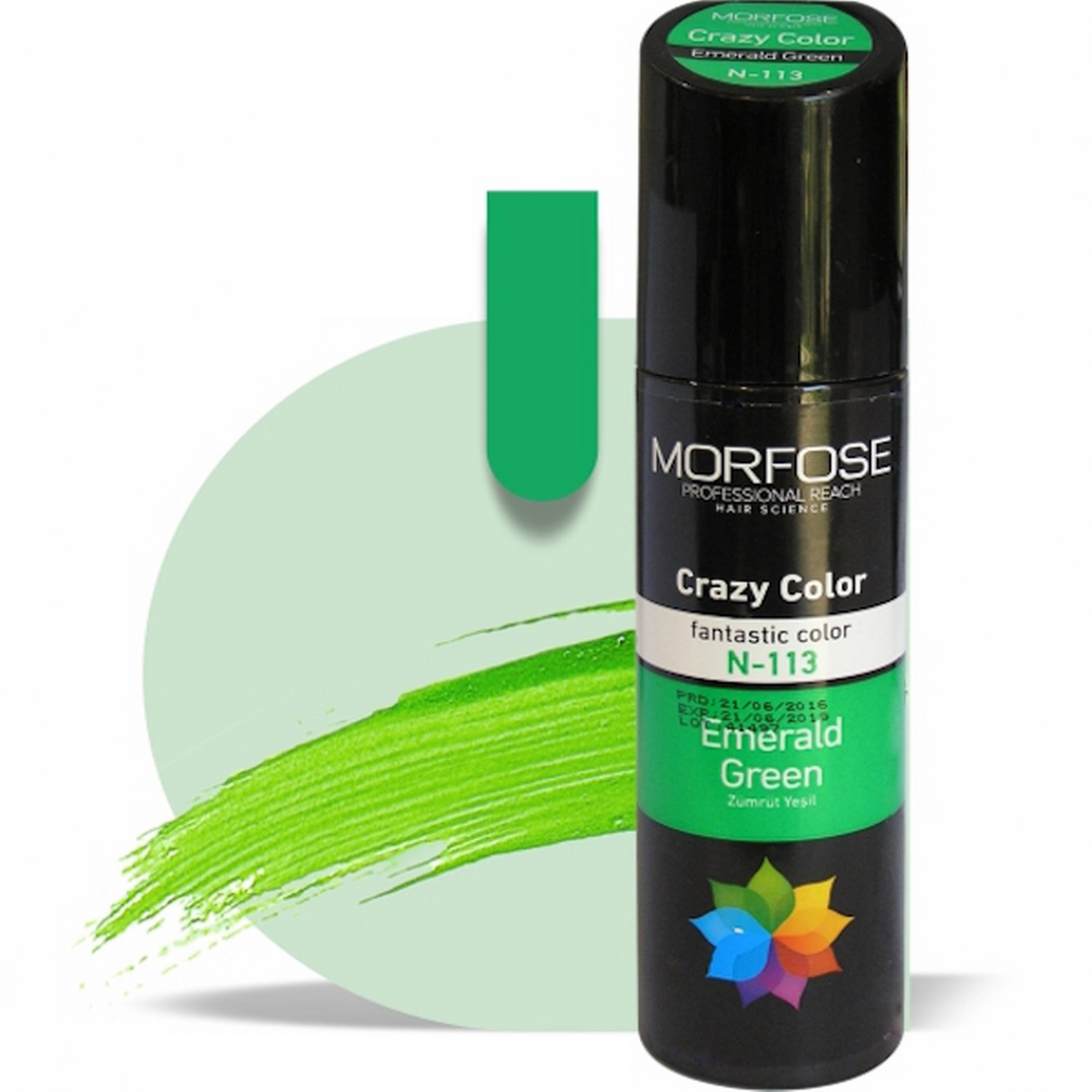 MORFOSE HAIR CRAZY COLOR  No 113 (EMERALD GREEN) -150ml