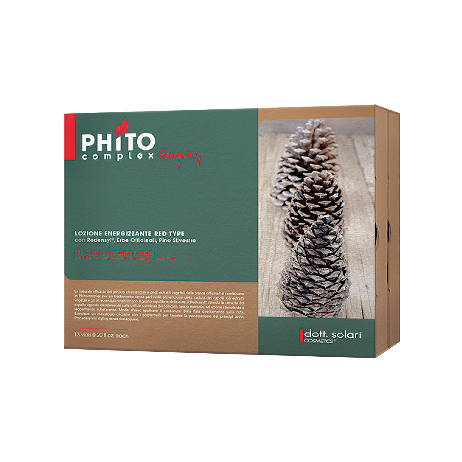 PHITOCOMPLEX RED TYPE ENERGIZING LOTION WITH MENTHOL -6ml box x 13pcs