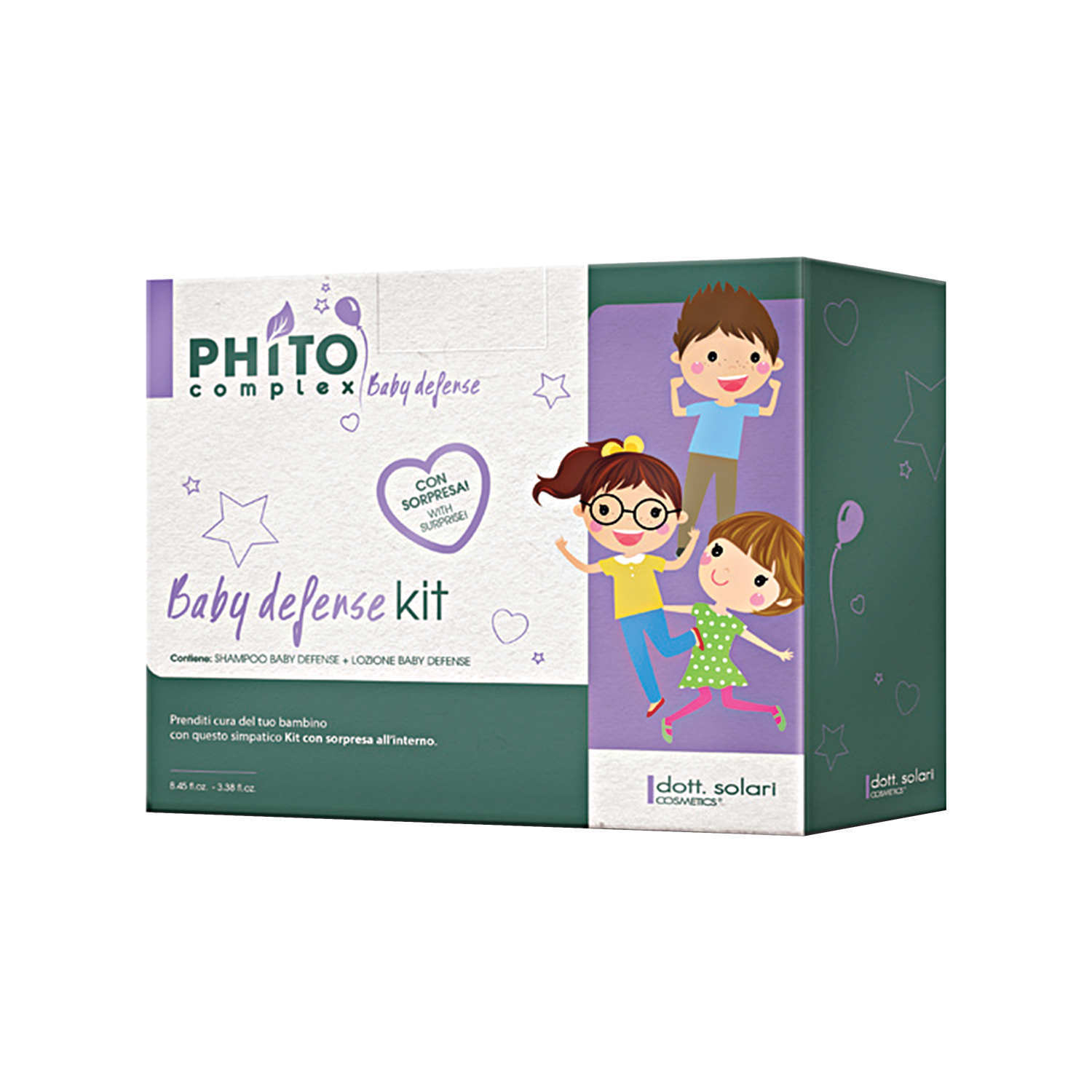PHITOCOMPLEX BABY DEFENSE KIT / ΣΑΜΠΟΥΑΝ ΠΡΟΣΤΑΣΙΑΣ 250ml & ΛΟΣΙΟΝ ΠΡΟΣΤΑΣΙΑΣ  100ml