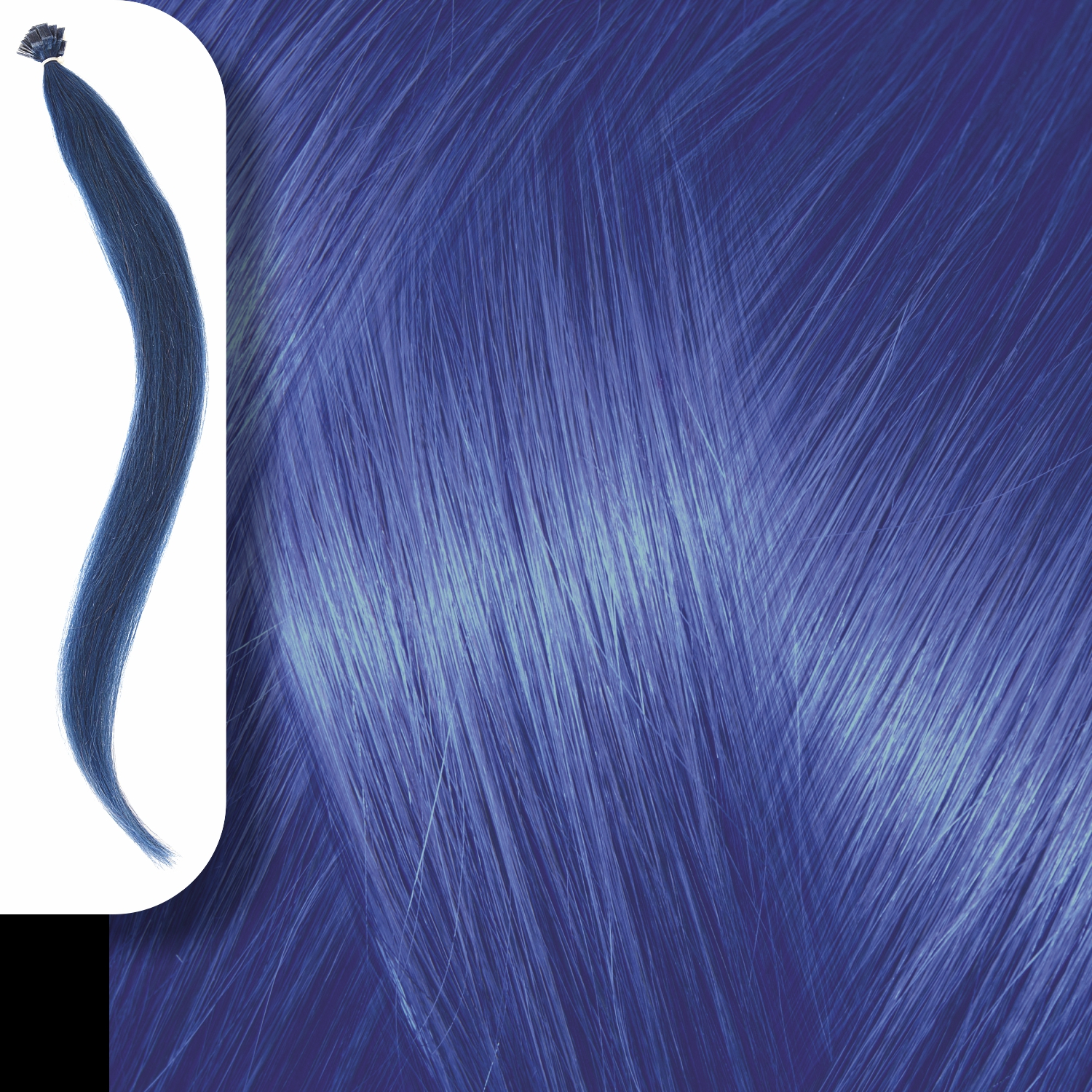 KERATIN HUMAN HAIR EXTENSIONS BLUE-50cm