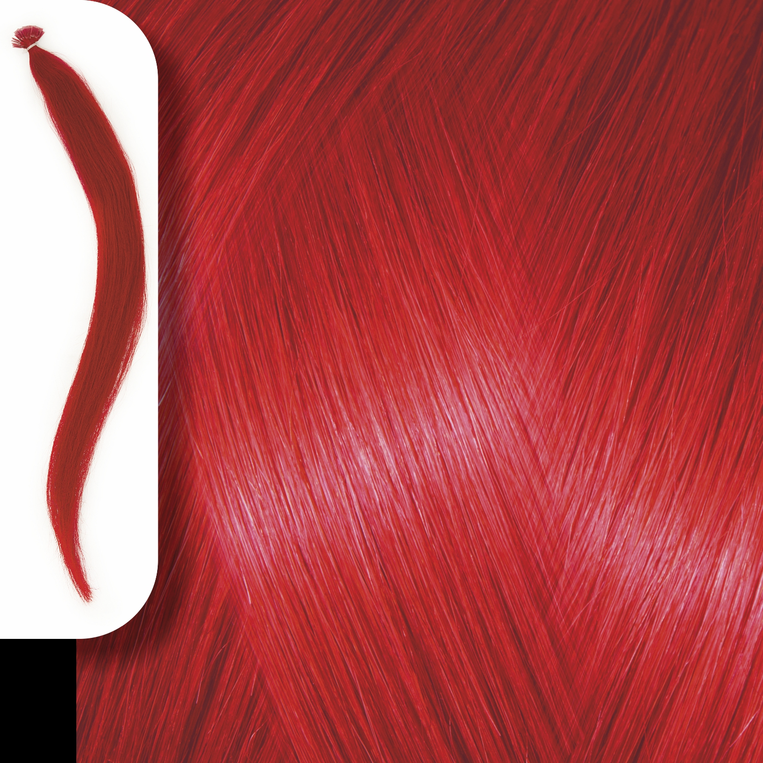 KERATIN HUMAN HAIR EXTENSIONS RED-50cm